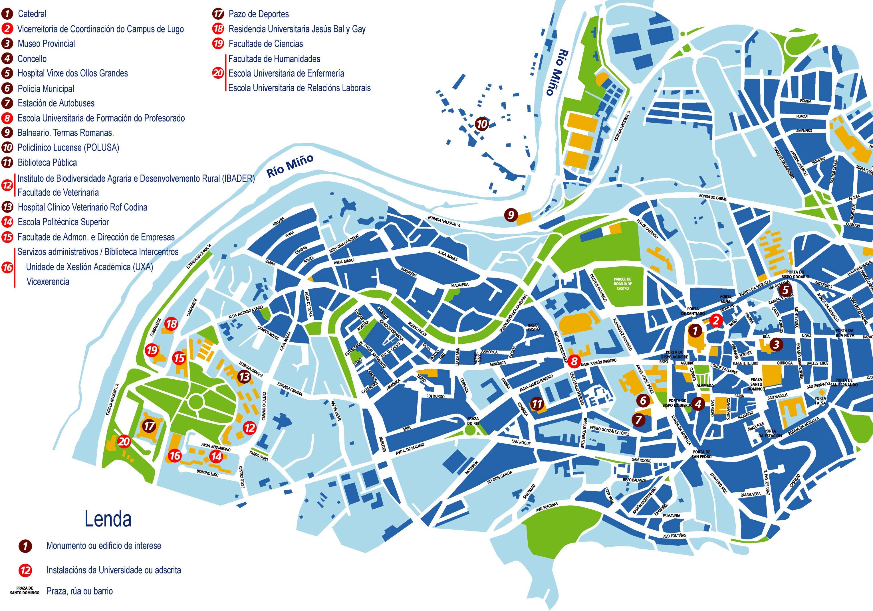 Callejero Mapa De Santiago De Compostela.Location And Maps Location And Maps Usc