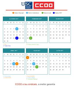 Usc Calendario.Ccoo Usc